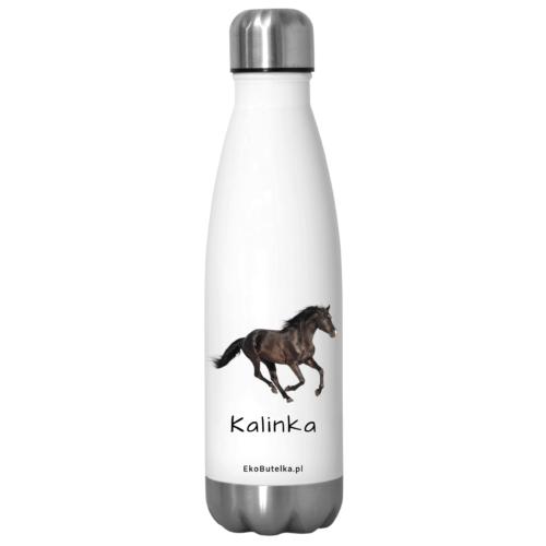 Butelki termiczne z zdjęciem konia i imieniem